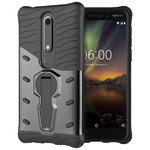 Slim Shield Tough Shockproof Case for Nokia 6.1 (2018) - Grey